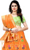 Orange Color Shaded Silk Lahenga Choli