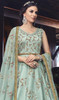 Sea Green Color Embroidered Silk Anarkali Suit