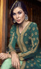 Embroidered Silk Teel Green Color Anarkali Suit