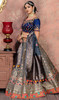 Gray Color Shaded Banarasi Silk Choli Skirt