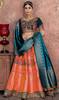 Orange Color Shaded Banarasi Silk Lahenga Choli