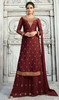 Maroon Color Shaded Satin Georgette Palazzo Dress