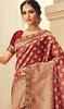 Maroon Color Jacquard Silk Embroidered Sari