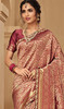 Pink Color Shaded Jacquard Silk Embroidered Sari