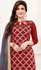 Maroon Color Banarasi Jacquard Churidar Suit