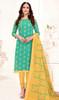 Green Color Shade Banarasi Jacquard Churidar Dress