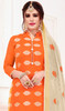 Churidar Dress in Orange Color Banarasi Jacquard