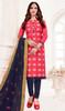 Pink Color Shaded Banarasi Jacquard Churidar Suit
