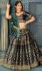 Gray Color Banarasi Silk Choli Skirt