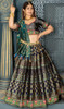 Gray Color Banarasi Silk Choli Skirt