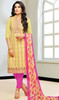Yellow Color Shaded Silk Pant Style Suit