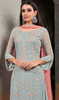 Palazzo Suit in Light Blue  Color Shaded Georgette