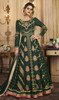 Anarkali Suit in Green Color Shaded  Embroidered Silk