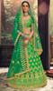 Embroidered Silk Green Color Choli Skirt