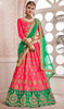 Pink Color Embroidered Silk Lehenga Choli