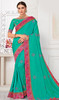 Sea Green Color Shaded Silk Sari