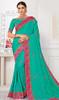 Sea Green Color Shaded Silk Sari