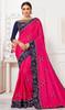Silk Pink Color Embroidered Sari