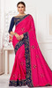 Silk Pink Color Embroidered Sari
