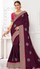 Burgundy Color Shaded Silk Sari