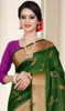 Green and Pink Color Shaded Cotton Silk Sari