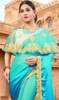 Blue Color Shaded Fancy Embroidered Sari