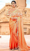 Orange Color Embroidered Fancy Sari