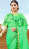 Fancy Green Color Shaded Embroidered Sari