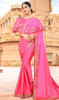 Pink Color Shaded Embroidered Fancy Sari
