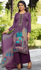 Palazzo Suit in Purple Color Shaded Crepe