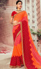 Multicolor Shaded Chiffon Sari