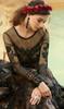 Brown Color Embroidered Net Anarkali Suit