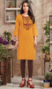 Yellow Color Shaded Embroidered Rayon Tunic