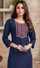 Navy Blue Color Shaded Rayon Tunic