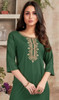 Green Color Rayon Embroidered Tunic