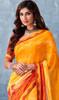 Yellow Color Georgette Printed Sari