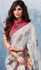 Gray Color Shaded Georgette Printed Sari