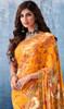 Printed Sari in Yellow Color Georgette