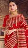 Red Color Shaded Silk Printed Sari