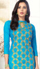 Sky Blue Color Shaded Cotton Churidar Dress