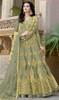 Green Color Stylish Net Embroidered Anarkali Dress