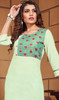 Sea Green Color Shaded Linen Tunic