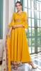 Yellow Color Embroidered Maslin Anarkali Palazzo Dress