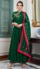 Green Color Maslin Embroidered Anarkali Suit
