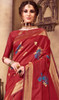 Silk Printed Red Color Shaded Sari
