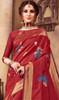Silk Printed Red Color Shaded Sari