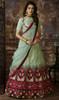 Mint Green Color Embroidered Silk Lahenga Choli