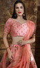 Embroidered Silk Lehenga Choli in Pink Color