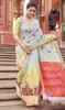 Multicolor Shaded Cotton Printed Sari
