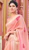 Peach Color Shaded Cotton Printed Sari